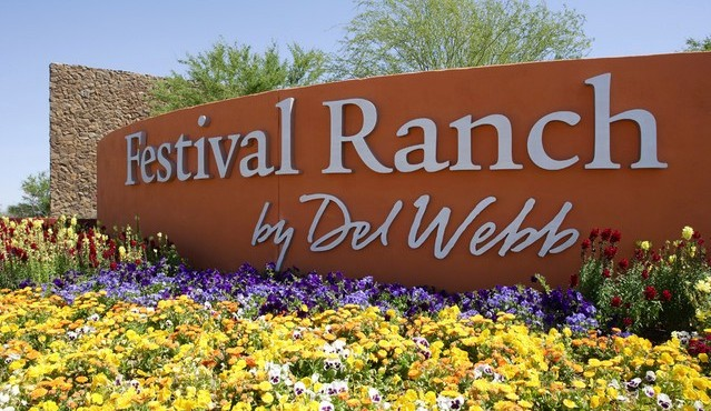 Entry sign for Sun City Festival in Buckeye Arizona