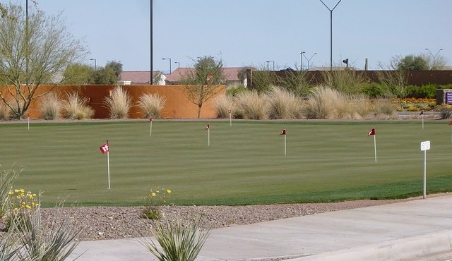 Extra putting green at Sun City Festival in Buckeye Arizona