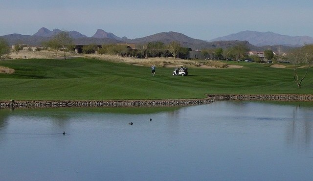 Golf, Lakes and mountain views from Trilogy at Vistancia in Peoria Arizona