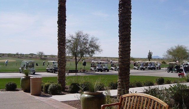 Golf range and putting green at Copper Canyon in Sun City Festival
