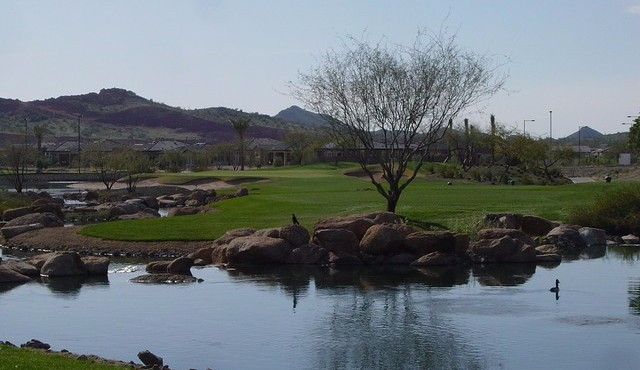 Great view of golf course in Trilogy at Vistancia in Peoria Arizona