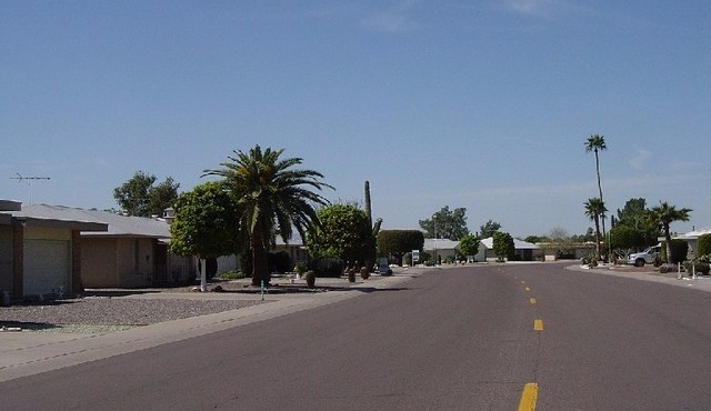 Homes for sale and street view in Sun City Arizona