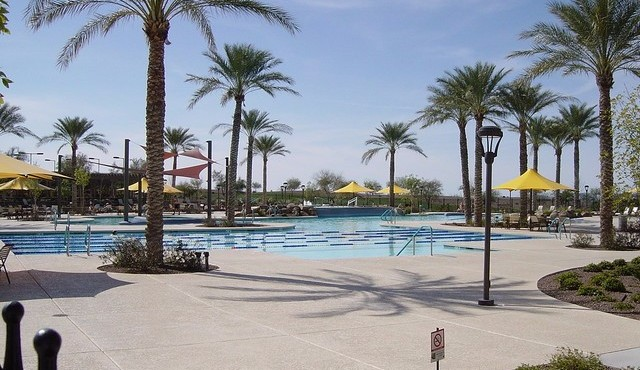 Oasis pool at Sun City Festival in Buckeye Arizona