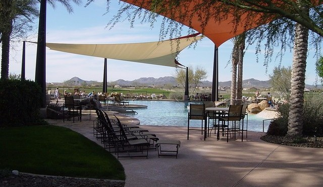 Outdoor pool and spa in Trilogy at Vistancia in Peoria Arizona