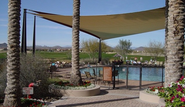Outdoor pool in Trilogy at Vistancia in Peoria Arizona