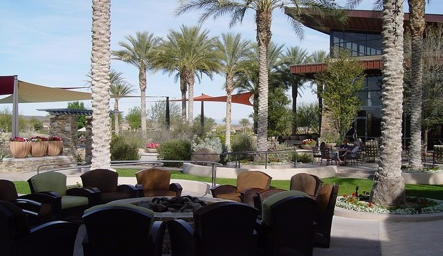 Outside patio for Kiva Club in Trilogy at Vistancia in Peoria Arizona