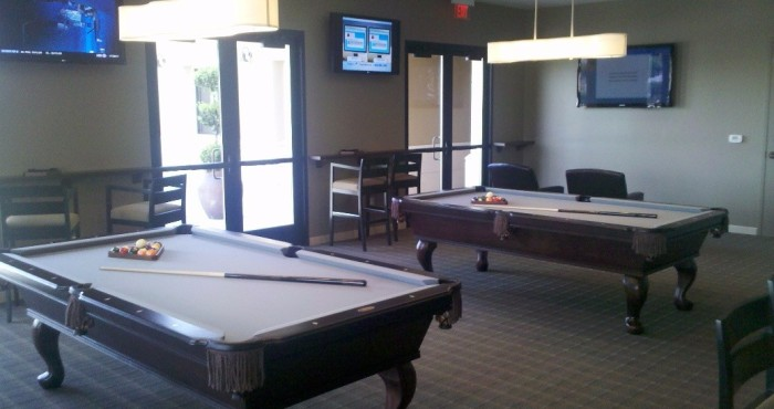Pool tables in CantaMia in goodyear arizona