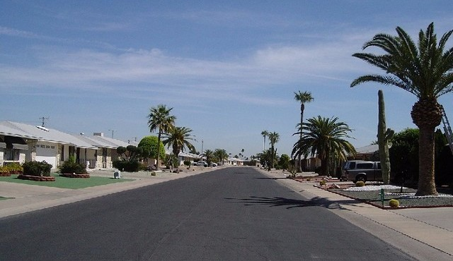Stree view and homes for sale in Sun City Arizona