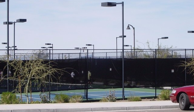 Tennis and pickelball courts at Sun City Festival in Buckeye Arizona