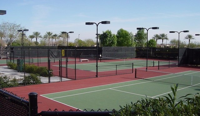 Tennis courts in Trilogy at Vistancia in Peoria Arizona